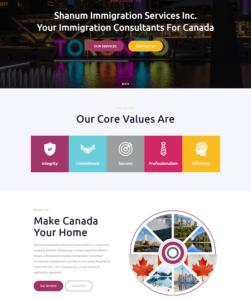 Sample of a service website